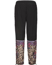 Versace Jeans Couture Leopard ナイロンパンツ - ブラック