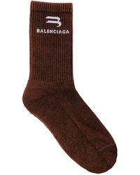 Balenciaga - Calcetines Con Logo - Lyst