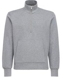 Thom Browne 4bar インターシャコットンスウェットシャツ - グレー