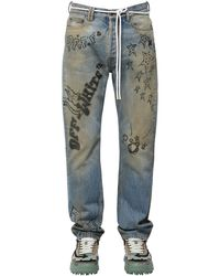 Off-White c/o Virgil Abloh Jeans Relaxed Fit In Denim Di Cotone - Blu
