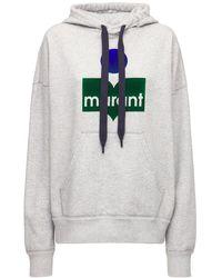 """Étoile Isabel Marant Hoodie Aus Baumwollmischung Mit Logo """"mansel"""" - Grau"""