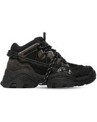 KENZO 40mm Mesh & Leather Sneakers - Black