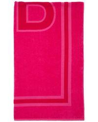 Balenciaga Пляжное Полотенце Из Хлопка - Розовый