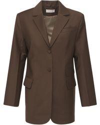 Matériel Tropical Wool Blend Blazer - Brown