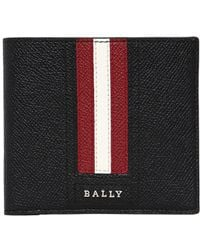 Bally - Stripes Saffiano Leather Classic Wallet - Lyst