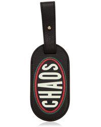 Chaos Etiqueta de equipaje con estampado gráfico - Negro