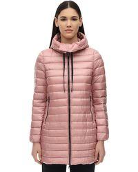 """Moncler Daunenjacke Aus Nylon """"rubis"""" - Pink"""