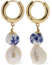 Anni Lu Heloise Pearl & Ceramic Bead Earrings - Mehrfarbig