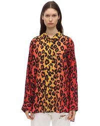 R13 Leopard ビスコースシャツ - レッド