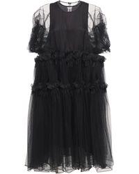 Noir Kei Ninomiya フリルチュール&オーガンジードレス - ブラック
