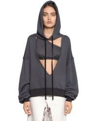 Terry Sweatshirt Hooded French Unravel V Cut Lyst 6wIqW4fx1