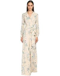 Luisa Beccaria Floral Print Viscose Georgette Jumpsuit - Многоцветный