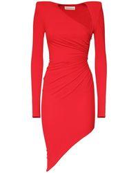 Alexandre Vauthier Асимметричное Платье Из Джерси Стрейч - Красный