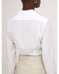 Stella McCartney シルククレープデシンシャツ - ホワイト