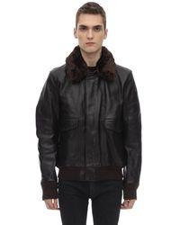 Schott Nyc エコファーカラー ジャケット - ブラック
