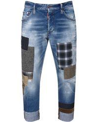 DSquared² Jeans Sailor Fit In Denim Di Cotone 17.5cm - Blu