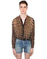 Saint Laurent Шелковая Рубашка С Принтом - Многоцветный