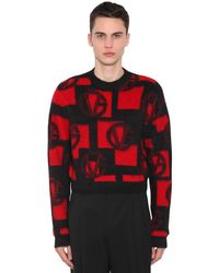 Versace Свитер Из Смешанной Шерсти - Красный