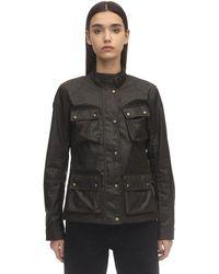 Belstaff Multi-pocket Waxed Cotton Jacket - Green