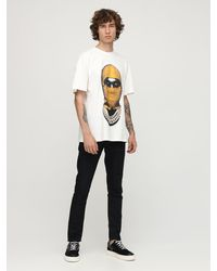 ih nom uh nit Mask リラックスコットンtシャツ - ホワイト
