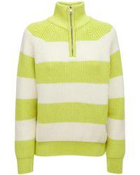 Sunnei High Neck Merino Wool Knit Sweater - Yellow