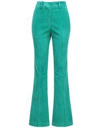 Victoria Beckham Брюки Из Вельвета - Зеленый