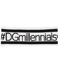 Dolce & Gabbana | Dgmillenials Jacquard Wool Headband | Lyst