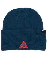 Nike Acg Hike Logo Beanie Hat - Blue