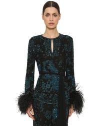 Zuhair Murad - Sequin & Bead Embellished Top - Lyst