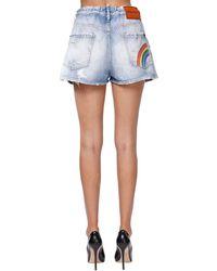 DSquared² Shorts Aus Denim Mit Rissen - Blau