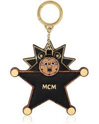 MCM Star Lion ミラーバッグチャーム - ブラック