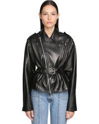 Maison Margiela Plongé Leather Biker Jacket - Черный