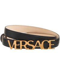 Versace レザーベルト 2cm - ブラック