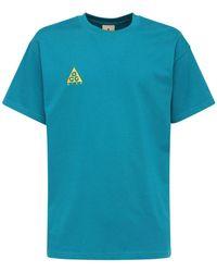 """Nike T-shirt """"acg"""" In Cotone Con Ricamo - Blu"""