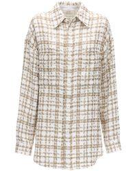 Faith Connexion ツイードシャツジャケット - ホワイト