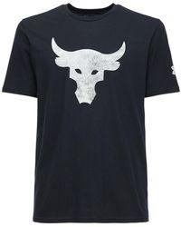 Under Armour Ua Pjt Rock Brahma Bull Tシャツ - ブラック