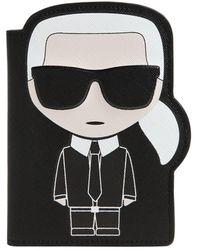 Karl Lagerfeld K/ikonic Karl パスポートホルダー - ブラック