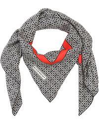 Givenchy Foulard Aus Satin Mit Karos - Grau