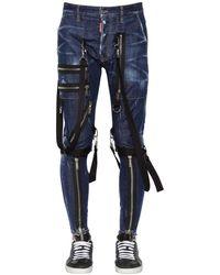 DSquared² Jeans Military In Denim Di Cotone 15Cm - Blu