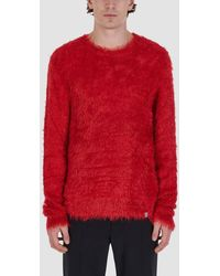 1017 ALYX 9SM Pull-over Col Rond En Maille - Rouge