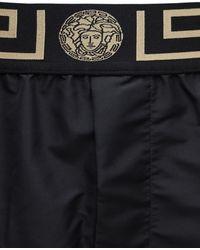 Versace Badeshorts mit Greca-Bund - Schwarz