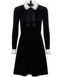 RED Valentino Exclusive クレープミニドレス - ブラック