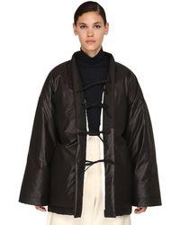 Jil Sander Reversible Quilted Cotton Blend Coat - Black