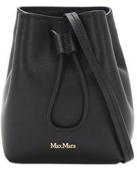 Max Mara Bucket-tasche Aus Leder - Schwarz