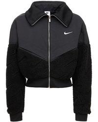 Nike Veste Courte En Coton Mélangé Icon Clash - Noir