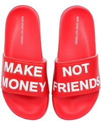 MAKE MONEY NOT FRIENDS - Sandalias Planas De Goma Con Logo - Lyst