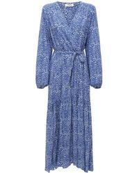 lemlem Halima ビスコースローブドレス - ブルー