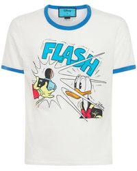 Gucci Футболка Из Хлопка Donald Duck - Белый