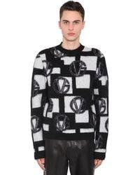 Versace Strickpullover Aus Wollmischjacquard - Schwarz