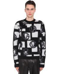 Versace Свитер Из Смешанной Шерсти - Черный